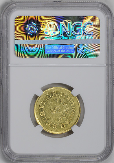 Picture of C BECHTLER $5, 134 GRAINS, STAR MS61