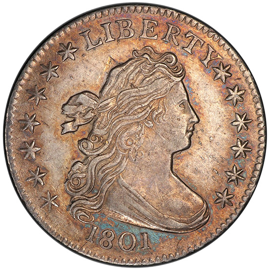 Picture of 1801 DRAPED BUST 10C MS62