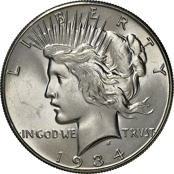 Picture of 1934-S PEACE $1 MS66