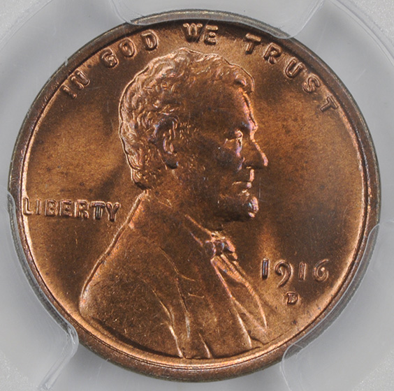 Picture of 1916-D LINCOLN BRONZE 1C MS66 Red