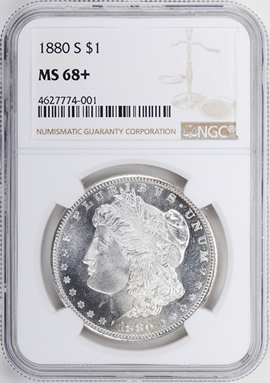 Picture of 1880-S MORGAN S$1 MS68+