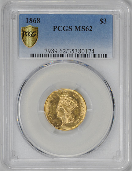 Picture of 1868 INDIAN PRINCESS $3 MS62