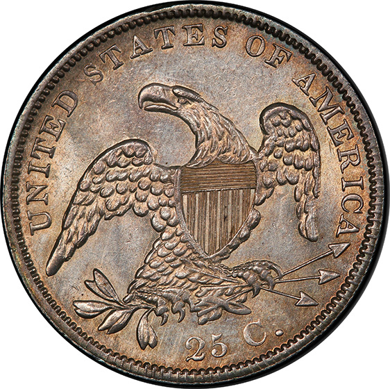 Picture of 1838 CAPPED BUST 25C, CAPPED BUST MS64