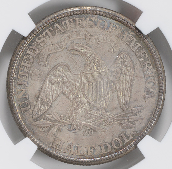 Picture of 1876-CC LIBERTY SEATED 50C, MOTTO MS66