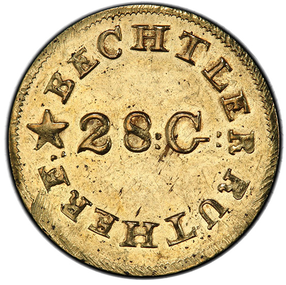 Picture of C BECHTLER G$1, N REVERSED MS62