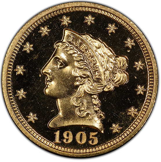 Picture of 1905 LIBERTY HEAD $2.5 PR67 Cameo