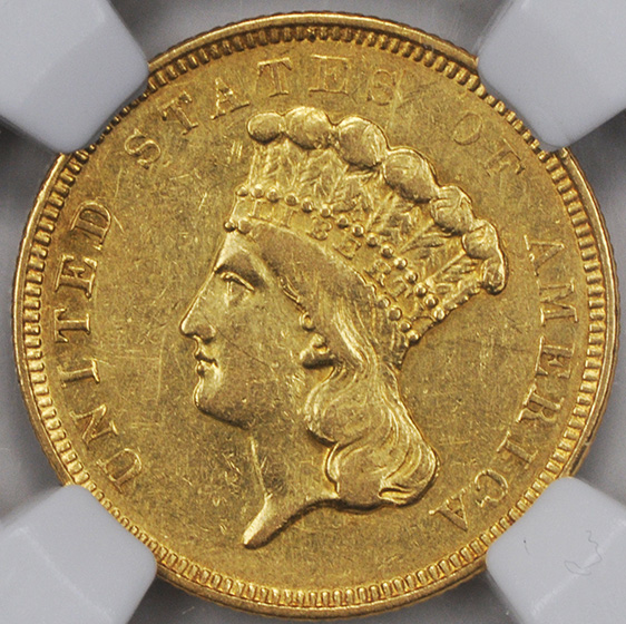 Picture of 1854-O INDIAN PRINCESS $3 AU55