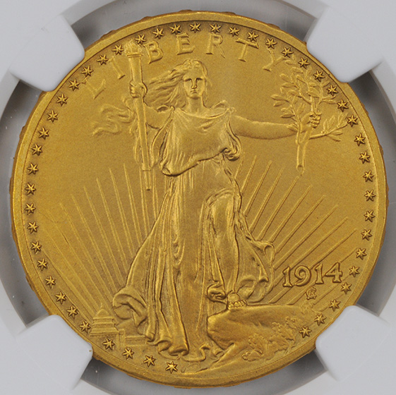Picture of 1914 ST. GAUDENS $20 PR66