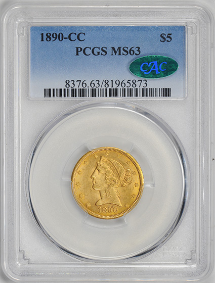 Picture of 1890-CC LIBERTY $5 MS63