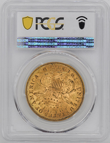 Picture of 1873-S LIBERTY HEAD $20, OPEN 3 MS60