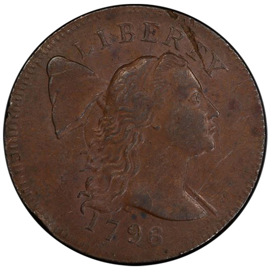 Picture of 1796 LIBERTY CAP LARGE 1C, LIBERTY CAP AU53 Brown