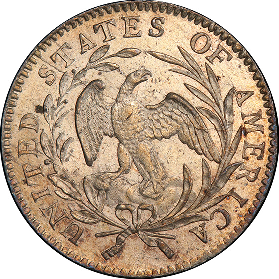 Picture of 1796 DRAPED BUST 10C, SMALL EAGLE MS63