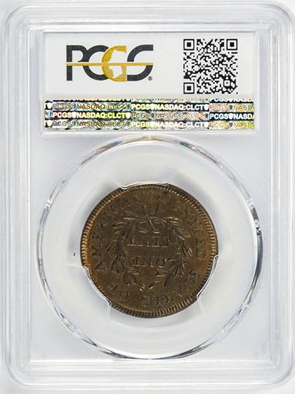 Picture of 1797 DRAPED BUST 1C, REV OF 1797, STEMS MS64 Brown