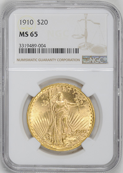 Picture of 1910 ST. GAUDENS $20 MS65