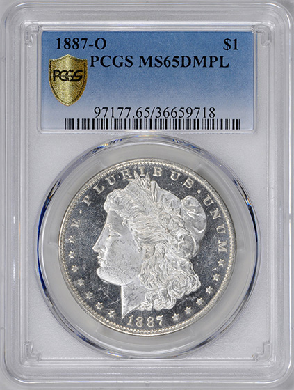 Picture of 1887-O MORGAN S$1 MS65 DMPL
