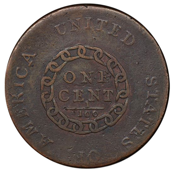 Picture of 1793 CHAIN 1C, PERIODS VF25 Brown
