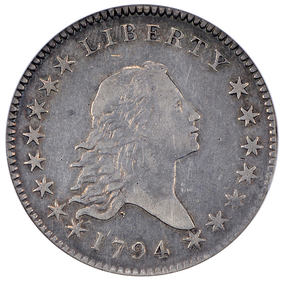 Picture of 1794 FLOWING HAIR 50C XF45