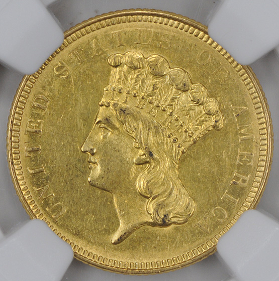 Picture of 1854-O INDIAN PRINCESS $3 MS61