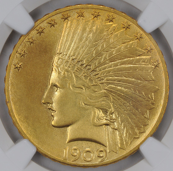Picture of 1909 INDIAN $10 PR66