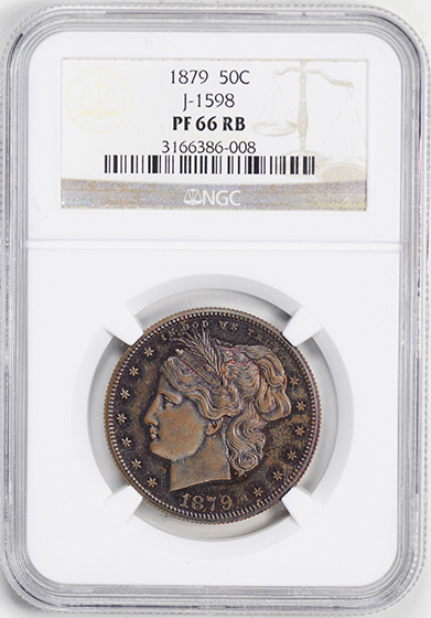 Picture of 1879 50C J-1598 PR66 Red Brown