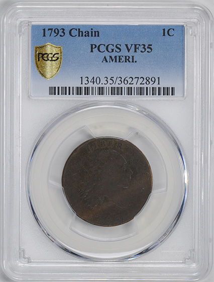 Picture of 1793 1793 CHAIN 1C, AMERI. VF35