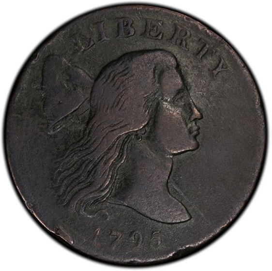 Picture of 1795 FLOWING HAIR LARGE 1C, JEFF, PLAIN EDGE FB15 N