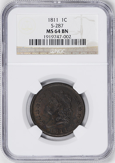Picture of 1811 CLASSIC HEAD 1C MS64 Brown