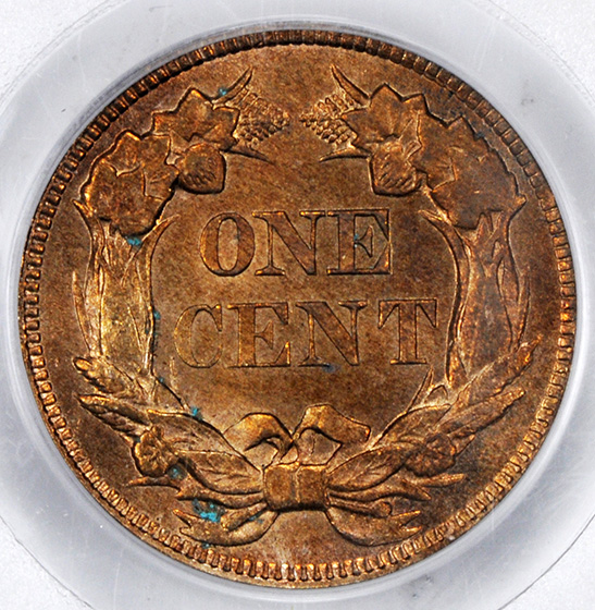 Picture of 1858/7 FLYING EAGLE 1C MS65