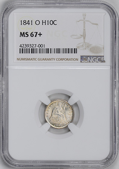 Picture of 1841-O LIBERTY SEATED H10C MS67+