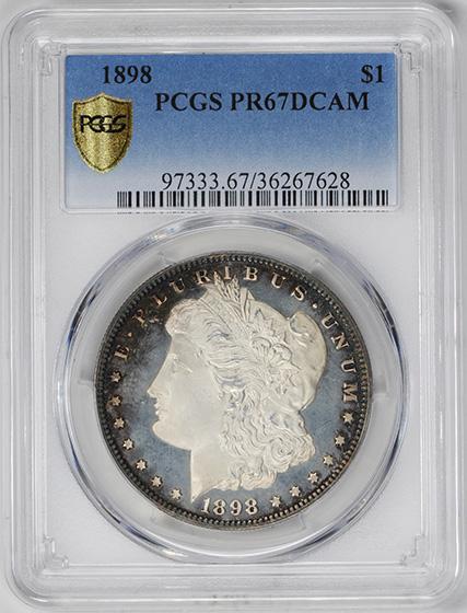 Picture of 1898 MORGAN S$1 PR67 Deep Cameo