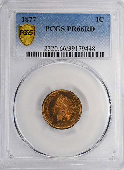 Picture of 1877 INDIAN BRONZE 1C PR66 Red