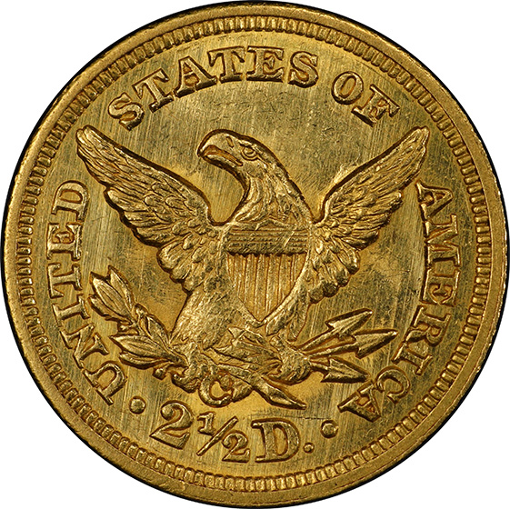 Picture of 1850-C LIBERTY HEAD $2.5 MS61