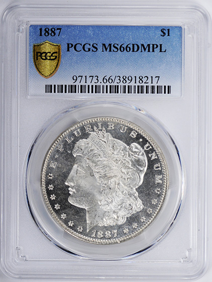 Picture of 1887 MORGAN S$1 MS66 DMPL