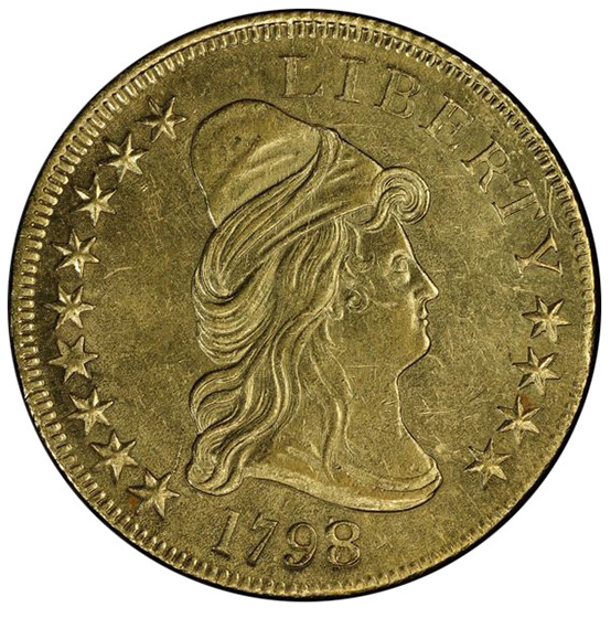 Picture of 1798/7 DRAPED BUST $10, 9X4 STARS MS61