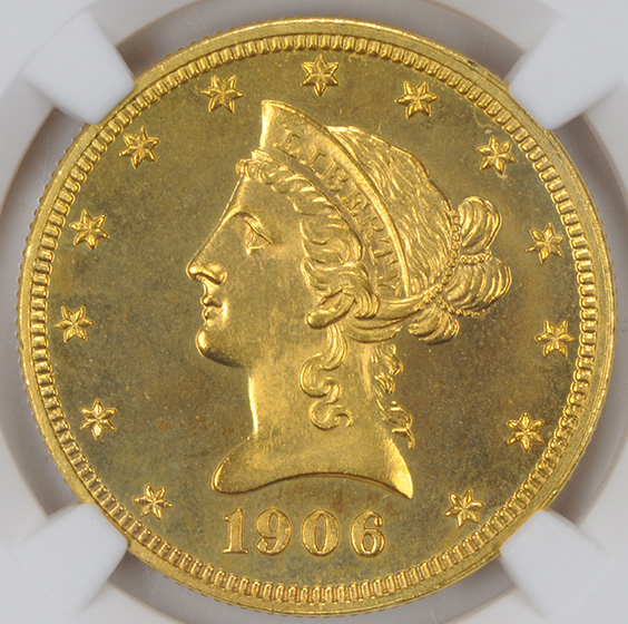 Picture of 1906 LIBERTY HEAD $10 PR66