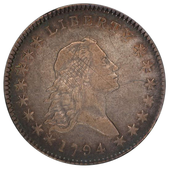 Picture of 1794 FLOWING HAIR 50C VF30