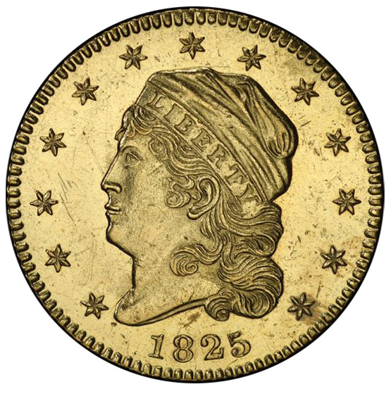 Picture of 1825 CAPPED BUST $2.5 MS61