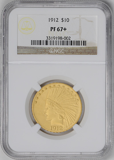 Picture of 1912 INDIAN $10 PR67+