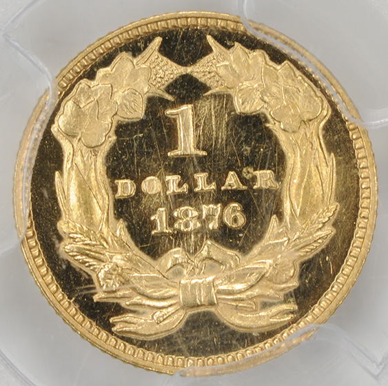 Picture of 1876 GOLD G$1, TYPE 3 PR65 Deep Cameo