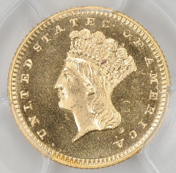 Picture of 1873 GOLD G$1, TYPE 3 PR65 Cameo