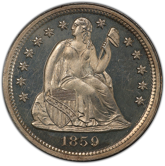 Picture of 1859 LIBERTY SEATED 10C PR66 Cameo