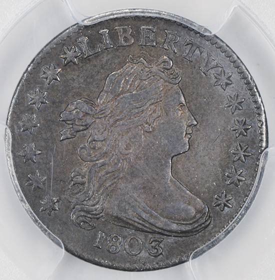 Picture of 1803 DRAPED BUST 10C AU53
