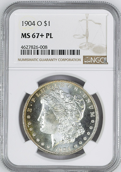 Picture of 1904-O MORGAN S$1 MS67+ Proof Like