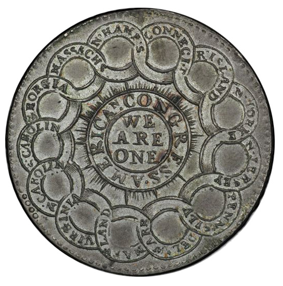 Picture of 1776 CURRENCY, PEWTER $1 MS62+