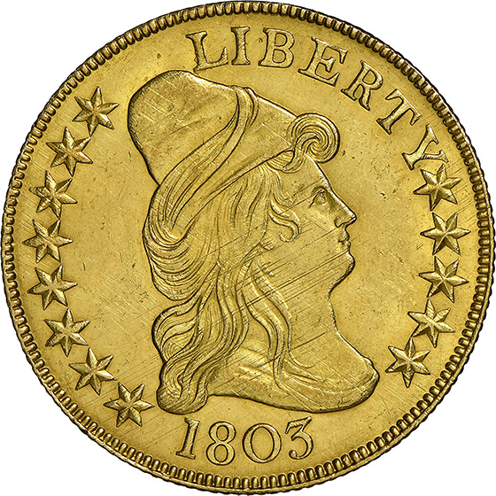 Picture of 1803 DRAPED BUST $10, LARGE STARS REVERSE MS63