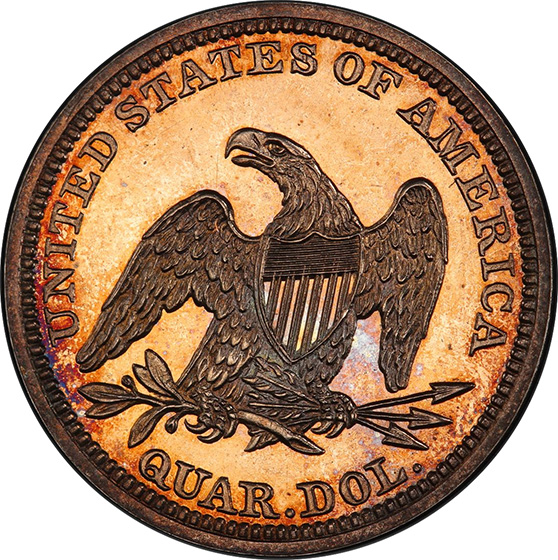 Picture of 1846 LIBERTY SEATED 25C, NO MOTTO PR65