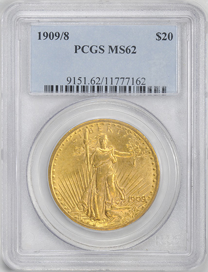 Picture of 1909/8 ST. GAUDENS $20 MS62