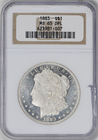 Picture of 1883 MORGAN S$1 MS65 DMPL