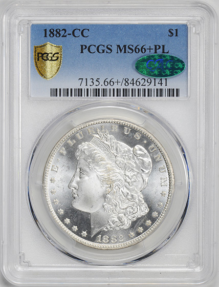 Picture of 1882-CC MORGAN S$1 MS66+ Proof Like