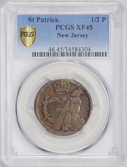 Picture of ST PATRICK NEW JERSEY 1/2 P XF45 Brown
